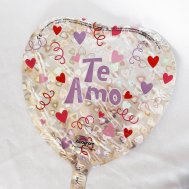 Globo Decorativo Te Amo color Plata